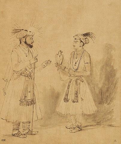 Shah Jahan & Dara Shikoh by Rembrandt