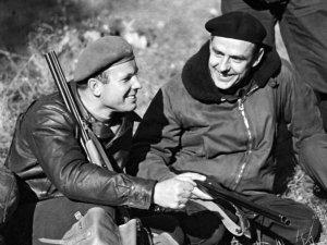 Gagarin (left) with Komarov